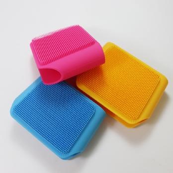 Silicone massage bath brush